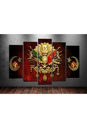 Caddeko Tk1 Osmanlı Arma Ve Fatih Sultan Mehmet Kanvas Tablo 70 x 100 cm