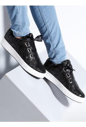 Ayakkabı - Siyah Simli - Zenneshoes