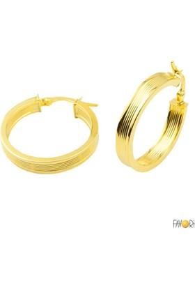 Favori Gold Maxi 14 Ayar Altın Halka Küpe