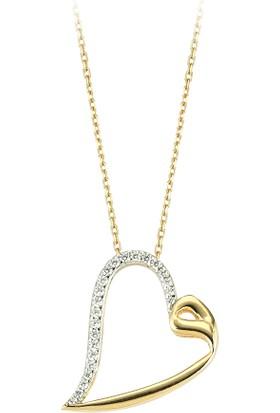 Jival L Jewelry Vavlı Kalpli Altın Kolye