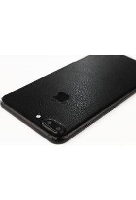 Marca Teknoloji Apple iPhone 7 Plus Siyah Deri Görünümlü Ultra İnce Kaplama
