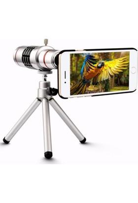 Markacase Apple iPhone 7 Plus Birebir Kılıflı 18X Zoom Teleskop Telefon Kamera Lensi