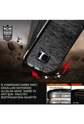 Kkd Samsung Galaxy S7 Edge Kılıf Metalik Silikon Zırh 360 Tam Koruma + Cam