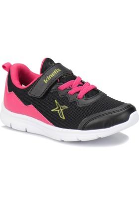 Kinetix Alpin Siyah Koyu Pembe Lime Kız Çocuk Sneaker