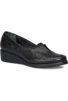 Polaris 5 Nokta 71.109651.Z Siyah Kadın Deri Ayakkabı