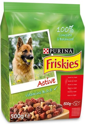 Friskies Purina Aktif Köpekler İçin Kırmızı Etli Köpek Maması 10 Kg