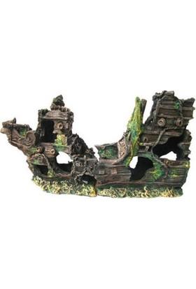 Chicos Akvaryum İçin Dekoratif Gemi 37,5X13,5X19,5 Cm