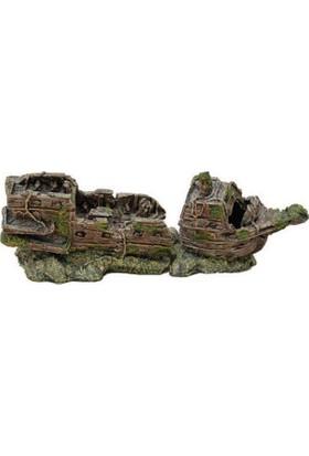 Chicos Akvaryum İçin Dekoratif Gemi 21,5X9X11,5 Cm