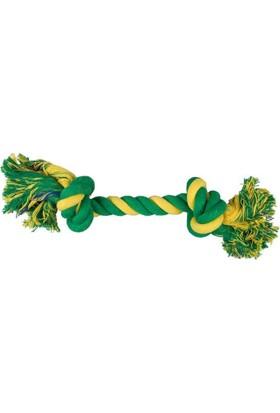 Çift Düğümlü İp Köpek Oyuncağı (Yeşil/Sarı) 35 Cm