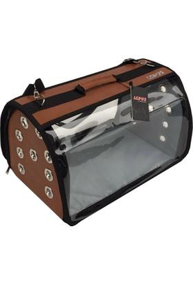 Lepus Flybag Kedi Köpek Taşıma Çantası K Kahverengi 25*35*40 Cm