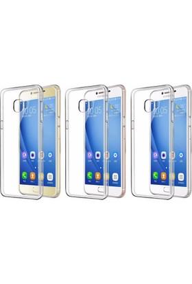 Microcase Samsung Galaxy C9 Pro Ultra İnce Silikon Kılıf+Tempered Cam