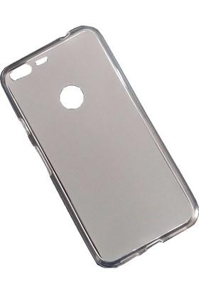 Microcase Google Pixel XL 5.5 inch Transparan Silikon Kılıf+Tempered Cam