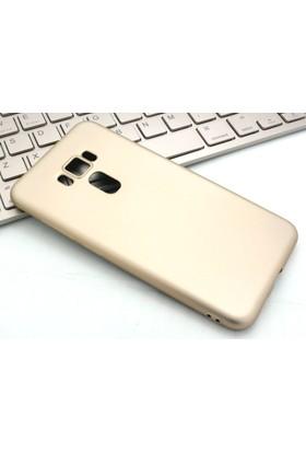 Microcase Asus Zenfone 3 Ze552KL Premium Mat Silikon Kılıf+Tempered Cam