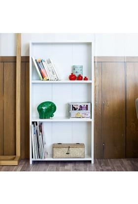 Hepsiburada Home 3 Raflı Kitaplık Beyaz