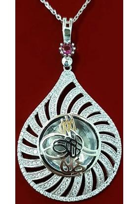 Takıhan 925 Ayar Gümüş Tuğralı Kadın Kolye Th1349