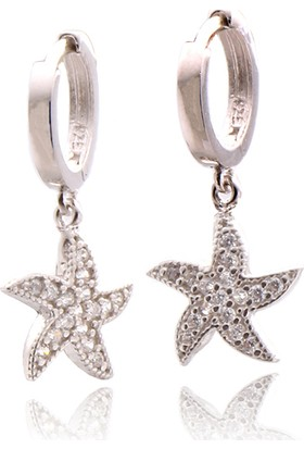 Takıhan Zirkon Taşlı Deniz Yıldızı Gümüş Küpe Th996