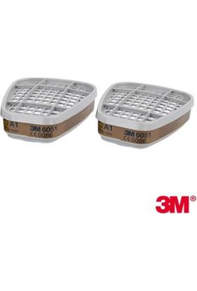 3M 6051 A1 Organik Gaz Buhar Filtresi
