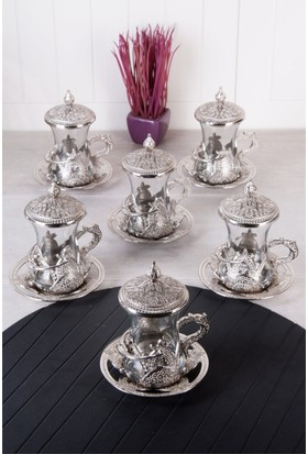 Queen's Kitchen 6 Kişilik Kapaklı Hüma Lüx Çay Seti