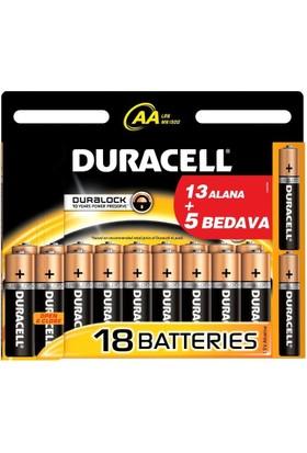 Ennalbur Duracell Alkalin Pil Aa 18'' Li Paket