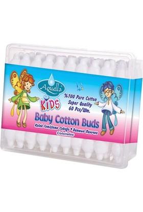 Aquella Kids Baby Kulak Temizleme Çubuğu 60 Adet