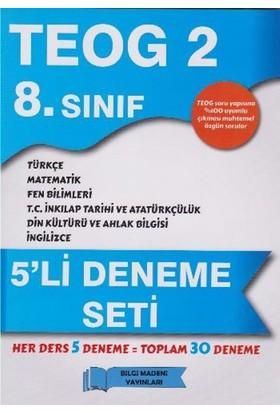 Bilgi Madeni Yayınları 8. Sınıf Teog 5 Li Deneme Seti