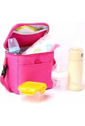 Baby&Plus Termal Mama Ve Biberon Koruyucu Çanta Pembe