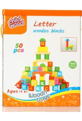 Bircan Oyuncak Ahşap Bloklar 50 Parça