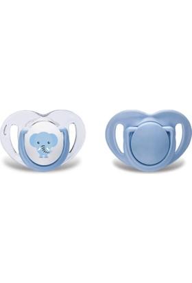 Mamajoo Silikon Emzik Mavi Fil 2'li 0 Ay+
