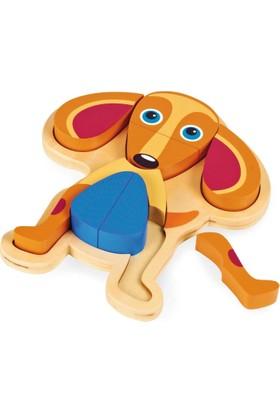 Oops Ahşap Puzzle Köpek