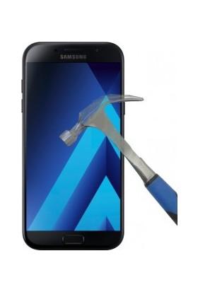 Diamond Samsungg A7 2017 Pencereli Kapaklı Kılıf + Jelatin