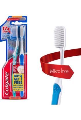 Colgate Diş Fırçası Mikro İnce Compact 1+1 Yumuşak