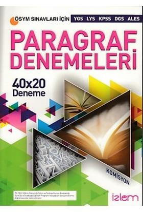İzlem Yayıncılık Paragraf Denemeleri 40X20 Deneme