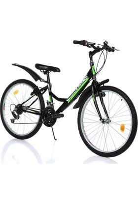 """Orbis Voltage 24"""" 21 Vites Kadın Siyah Dağ Bisikleti"""