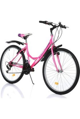 "Orbis Voltage 26"" 21 Vites Kadın Pembe Dağ Bisikleti"