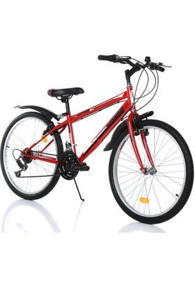 """Orbis Voltage 24"""" 21 Vites Erkek Kırmızı Dağ Bisikleti"""