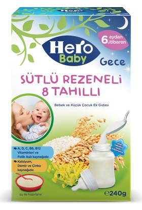 Hero Baby Gece Sütlü Rezeneli 8 Tahıllı Kaşık Maması 240 gr