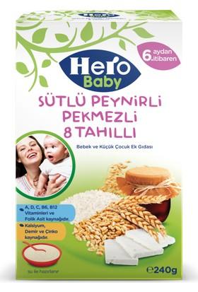 Hero Baby Sütlü Peynirli Pekmezli 8 Tahıllı Kaşık Maması 240 gr