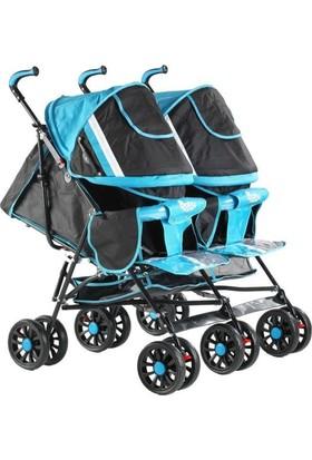 Babyhope 614 İkiz Baston Bebek Arabası