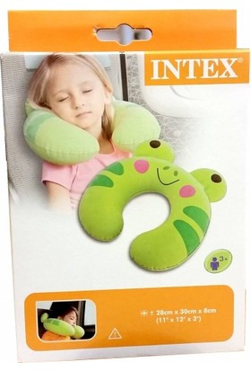 Intex Çocuk Seyahat Yastığı 68678 (Kurbağa, Kedi 30 x 28 x 8 cm)