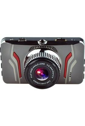 General Plus 3 inç LCD Ekran General Plus GP61 Tek Yön Türkçe Menü 16 MP Full HD 1080P 120 Derece Geniş Açı Gece Görüşlü DVR Gümüş Metal Kasa Araç İçi Kamera