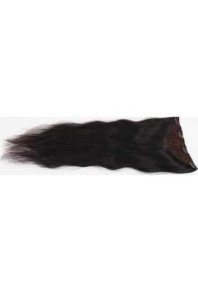 Aytuğ Peruk Doğal Saç Yarım Ay Çıtçıt 65-70Cm(150Gram) Doğal Renk Kestanedoğal Boyasız Koyu Kahverengi