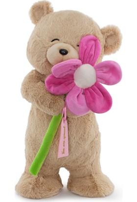Neco Plush Sevgiliye Hediye Fluffy Papatyalı Ayı 55 cm