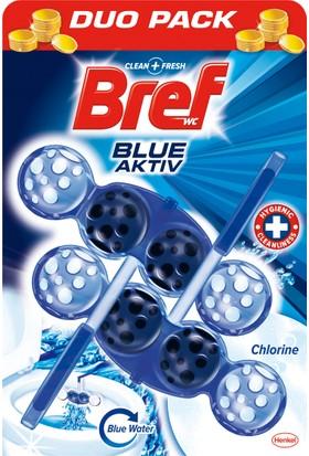 Bref Blue Aktiv Klor Katı Klozet Blok 2'li Özel Paket