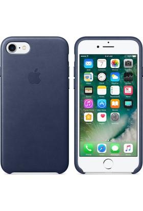 Apple iPhone 7 / 8 Deri Kılıf - Gece Mavisi - MMY62ZM/A (İthalatçı Garantili)