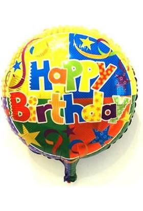Partypark Happy Birthday Folyo Balon Yıldızlı 45Cm