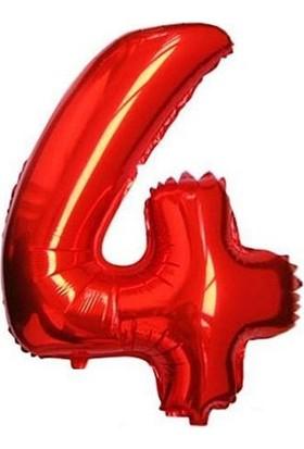Partypark 4 Folyo Balon Kırmızı 70Cm