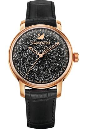 Swarovski Crystalline Hours Leather Strap Black-Rose 5218902 Kadın Kol Saati