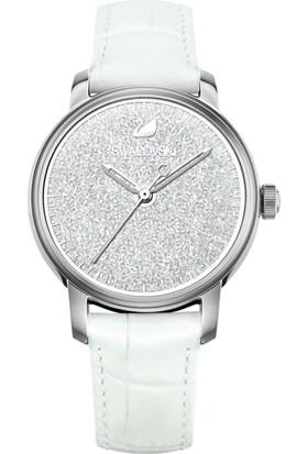 Swarovski Crystalline Hours Leather Strap White 5218899 Kadın Kol Saati