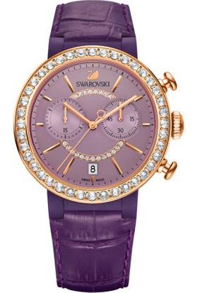 Swarovski Citra Sphere Chrono Gf Leather Strap Violete 5210211 Kadın Kol Saati