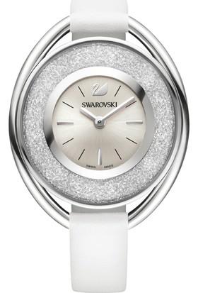 Swarovski Crystalline Oval Leather Strap White 5158548 Kadın Kol Saati